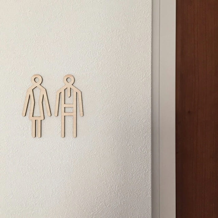 toilet sign shina(トイレサイン)