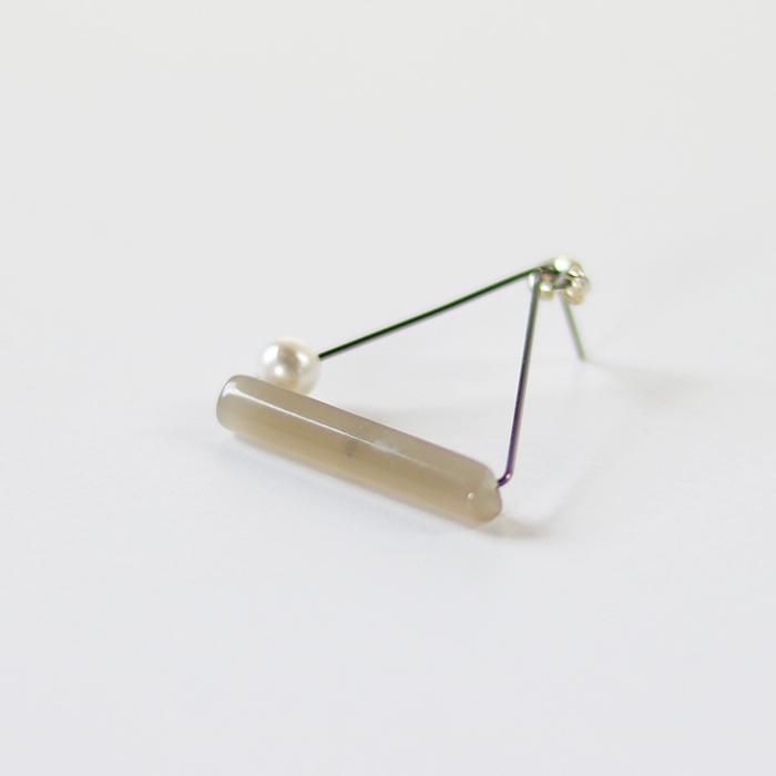 Sur (サー) / pierce TI-P3 [GRAY](片耳販売)