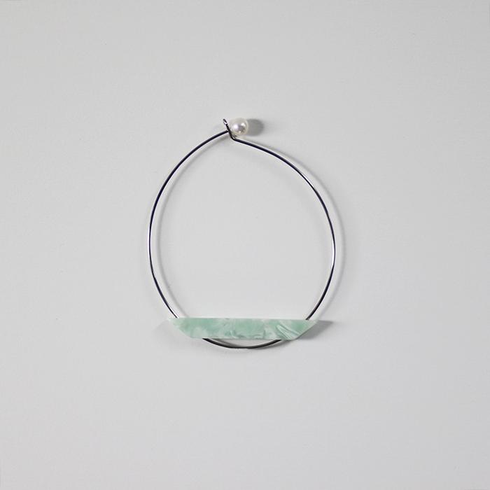 Sur (サー) / titanium bracelet TI-BR1 [GREEN]