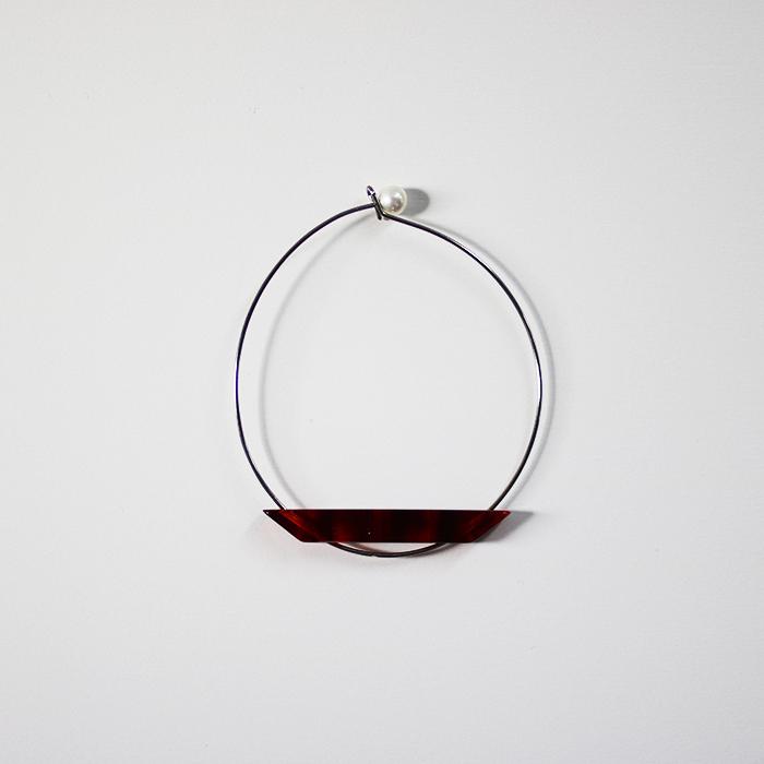 Sur (サー) / titanium bracelet TI-BR1 [RED]