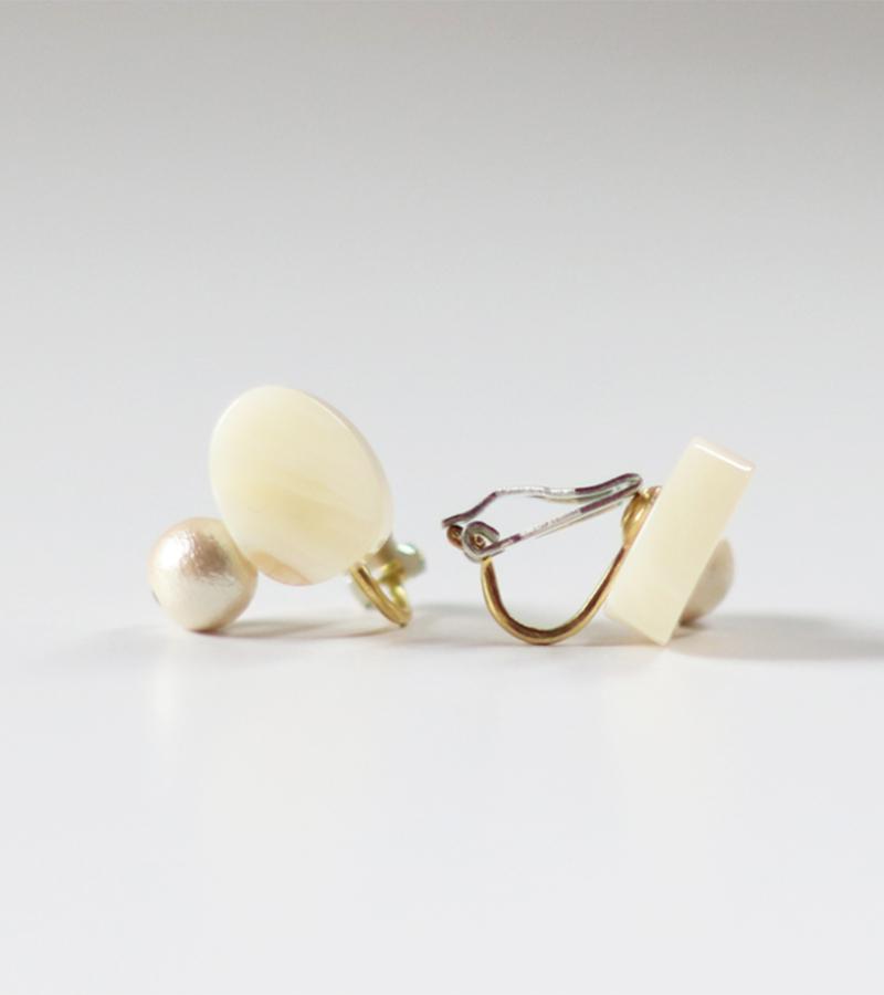 Sur (サー) / earring SR-EA3[WHITE MARBLE]
