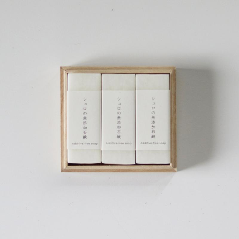 SyuRo / 無添加石鹸3個セット (桐箱入り)