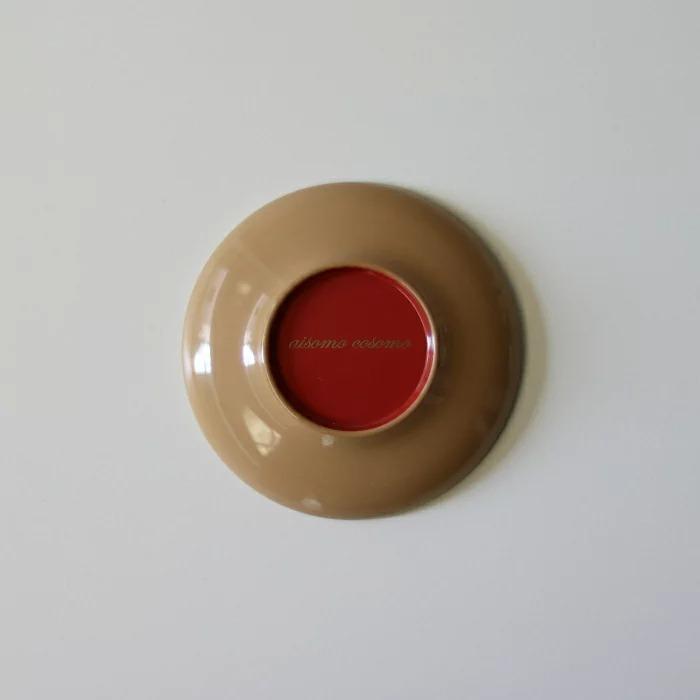 aisomo cosomo(アイソモ・コソモ) まめ皿[ベージュ×ピンク]